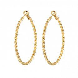 Σκουλαρίκια Philip Jones 50mm Diamond Cut Χρώματος Χρυσό