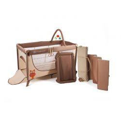 Βρεφικό Φορητό Κρεβάτι με Αξεσουάρ Χρώματος Μπεζ Kinderkraft Joy Plus