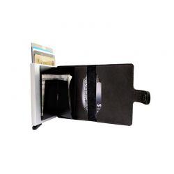 Αυτόματη Θήκη για Κάρτες με RFID Προστασία Χρώματος Μαύρο GB-7195