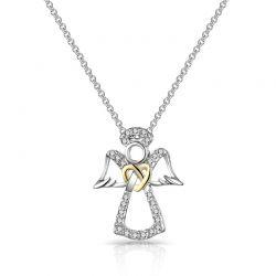 Κολιέ Philip Jones Guardian Angel με Κρύσταλλα Swarovski®