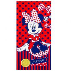 Παιδική Πετσέτα Θαλάσσης Χρώματος Κόκκινο Minnie Disney ER4356