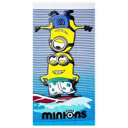 Παιδική Βελουτέ Πετσέτα Θαλάσσης Minions Disney EP4277
