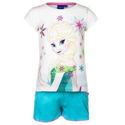 Παιδικό Σετ Μπλούζα - Σορτς Χρώματος Λευκό Frozen Disney EP1125
