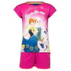 Παιδικό Σετ Μπλούζα - Σορτς Χρώματος Ροζ Frozen Disney EP1125