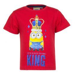 Παιδικό T-shirt Χρώματος Κόκκινο Minions Disney EP1016