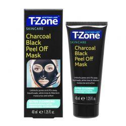 Peel - Off Μάσκα Καθαρισμού Προσώπου με Άνθρακα 40 ml T-Zone 01035TZD