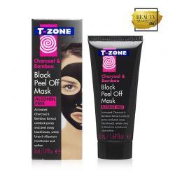 Peel - Off Μάσκα Καθαρισμού Προσώπου με Άνθρακα και Μπαμπού 50 ml T-Zone 01101TZC