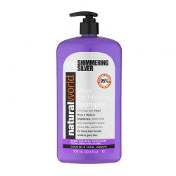Σαμπουάν Shimmering Silver Brightening για Λάμψη Natural World 900 ml