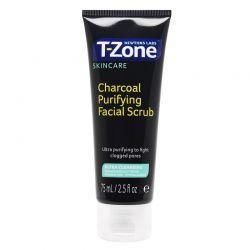Scrub Καθαρισμού Προσώπου με Άνθρακα75 ml T-Zone 01068TZD