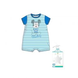 Βρεφικό Φορμάκι Χρώματος Μπλε Mickey Disney AQE0468