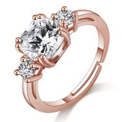 Δαχτυλίδι Meghan Replica Philip Jones Χρώματος Ροζ - Χρυσό με Κρύσταλλα Swarovski®
