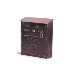 Γραμματοκιβώτιο 23 x 9 x 29 cm Χρώματος Ροζ - Χρυσό MWS14504