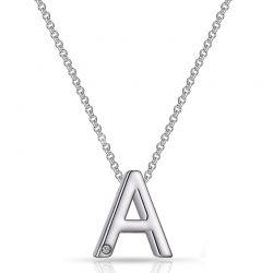 Κολιέ Philip Jones με Μονόγραμμα A και Κρύσταλλο Swarovski®