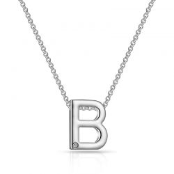 Κολιέ Philip Jones με Μονόγραμμα B και Κρύσταλλο Swarovski®