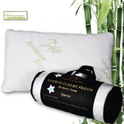 Μαξιλάρι Herzberg Bamboo Luxury Memory Foam Royalty Comfort Queen HG5076-BM