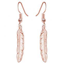 Σκουλαρίκια Φτερά Philip Jones Χρώματος Ροζ - Χρυσό