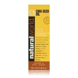 Αντιβακτηριδιακό Λάδι Όγκου και Λάμψης για Λεπτά Μαλλιά Chia Seed Oil 100 ml Natural World 09280NAT