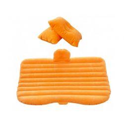 Φουσκωτό Στρώμα Αυτοκινήτου Με Ενσωματωμένη Αντλία και Δύο Μαξιλάρια Χρώματος Πορτοκαλί MWS10853