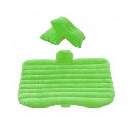 Φουσκωτό Στρώμα Αυτοκινήτου Με Ενσωματωμένη Αντλία και 2 Μαξιλάρια Χρώματος Πράσινο MWS10853