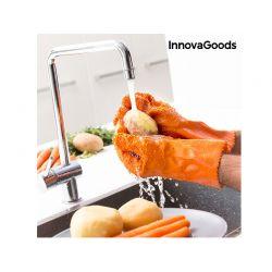 Γάντια για Καθαρισμό και Ξεφλούδισμα Λαχανικών και Φρούτων InnovaGoods V0100611