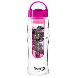 Μπουκάλι με Αποσπώμενο Φίλτρο για Φρούτα Χρώματος Ροζ 750 ml Fruit Infuser bottles