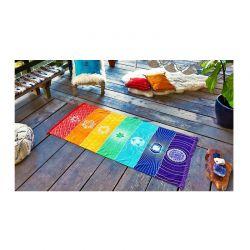 Ριχτάρι Ουράνιο Τόξο 150 x 70 cm SPM Chakra Rainbow throw