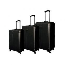 Σετ 3 Βαλίτσες Χρώματος Μαύρο W9004