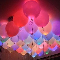 Σετ Πολύχρωμα Μπαλόνια με LED Φωτισμό 6 τμχ LED Magic baloons