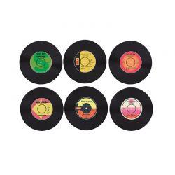 Σετ Σουβέρ - Δίσκος Βινυλίου 6 τμχ Vinyl Coasters