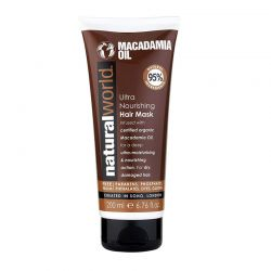 Μάσκα Μαλλιών με Λάδι Macademia για Ενυδάτωση και Θρέψη 200 ml Natural World 09256NAT