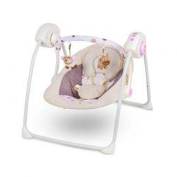 Παιδικό Ρηλάξ - Κούνια 2 σε 1 Χρώματος Ροζ KinderKraft Easy Swing