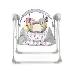 Παιδικό Ρηλάξ - Κούνια 2 σε 1 Χρώματος Ροζ KinderKraft Flo KKBFLOPINK0000