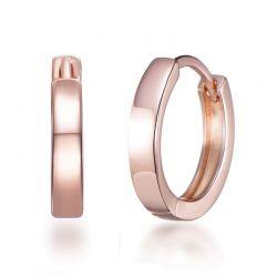 Σκουλαρίκια Κρίκοι Philip Jones 20 mm Χρώματος Ροζ - Χρυσό