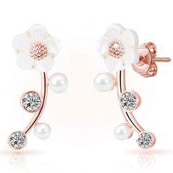 Σκουλαρίκια Philip Jones Daisy Climber με Κρύσταλλα Swarovski®