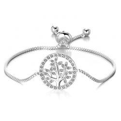Βραχιόλι Philip Jones Δέντρο της Ζωής με Κρύσταλλα Swarovski®