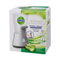 Αυτόματη Συσκευή Κρεμοσάπουνου Dettol No-Touch και Ανταλλακτικό Aloe Vera 250 ml Dettol-Dispenser