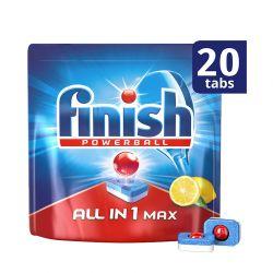Απορρυπαντικό Πλυντηρίου Πιάτων Finish All In 1 Max Λεμόνι 20 Ταμπλέτες Finish-Tabs-LMN