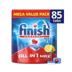 Απορρυπαντικό Πλυντηρίου Πιάτων Finish All In 1 Max Λεμόνι 85 Ταμπλέτες Finish-Tabs-LMN85