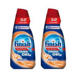 Υγρό Απορρυπαντικό Πλυντηρίου Πιάτων Finish All in 1 Max Gel Fresh Burst 650 ml 2 τμχ Finish-Gel-FB 2PCS