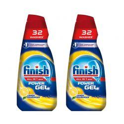 Υγρό Απορρυπαντικό Πλυντηρίου Πιάτων Finish All in 1 Max Gel Λεμόνι 650 ml 2 τμχ Finish-Gel-LMN 2PCS