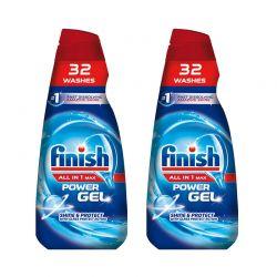 Υγρό Απορρυπαντικό Πλυντηρίου Πιάτων Finish All in 1 Max Gel Shine & Protect 650 ml 2 τμχ Finish-Gel-SP 2PCS
