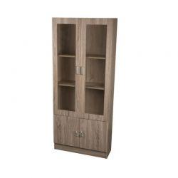 Ξύλινη Βιβλιοθήκη με 3 Ράφια και 1 Ντουλάπι 72 x 26 x 170 cm Homestyle 01504