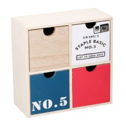 Ξύλινη Σύνθεση Οργάνωσης με 4 Συρτάρια 22.5 x 10 x 22.5 cm Arti Casa 04254
