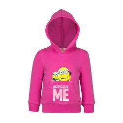 Παιδική Μπλούζα με Κουκούλα Χρώματος Φούξια Minions Disney HO1577