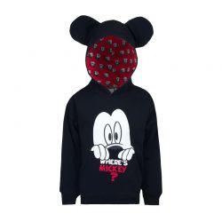 Παιδική Μπλούζα με Κουκούλα Χρώματος Μαύρο Mickey Disney HQ1454