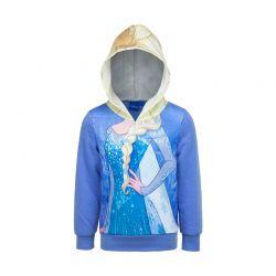 Παιδική Μπλούζα με Κουκούλα Χρώματος Μπλε Frozen Disney DHQ1194