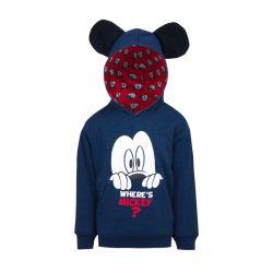 Παιδική Μπλούζα με Κουκούλα Χρώματος Μπλε Mickey Disney HQ1454 83c4513937e