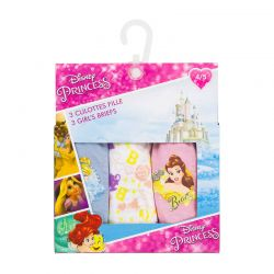 Σετ 3 Παιδικά Slips Princess Disney ER3104