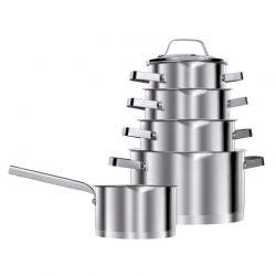 Σετ Μαγειρικών Σκευών από Ανοξείδωτο Ατσάλι MPM 10 τμχ MKG-11