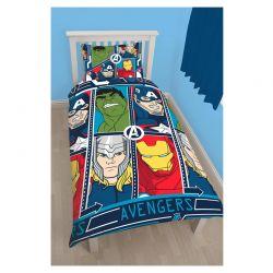 Σετ Μονή Παπλωματοθήκη 2 τμχ 140 x 200 cm Avengers Disney DMATEHDS002